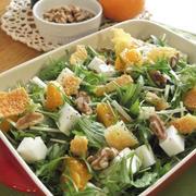 美人サラダ♪水菜&はんぺん&オレンジ