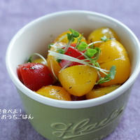 カラフルトマトのはちみつレモンピクルスサラダ【スパイス大使】