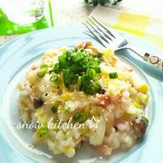 白菜とベーコンのミルクリゾット☆
