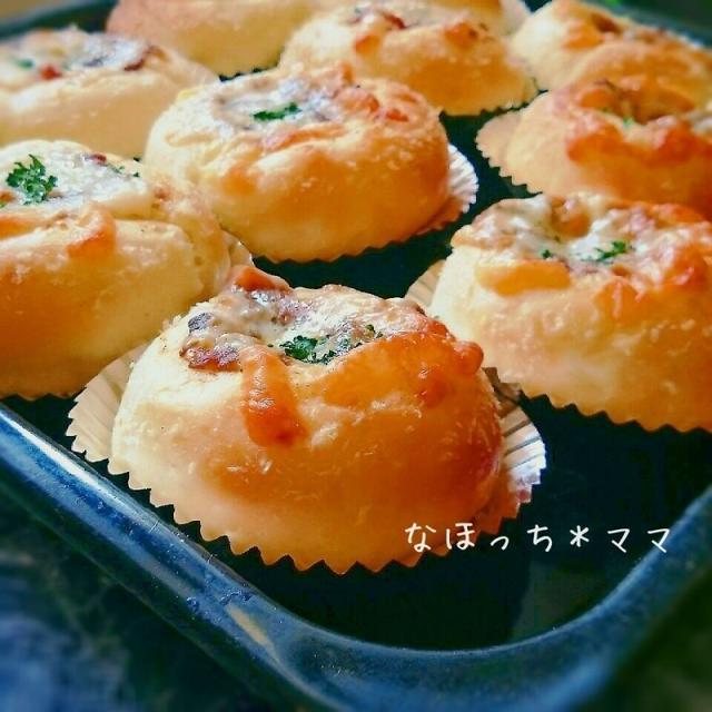 余ったカレーde焼きカレーチーズパン❤HB使用