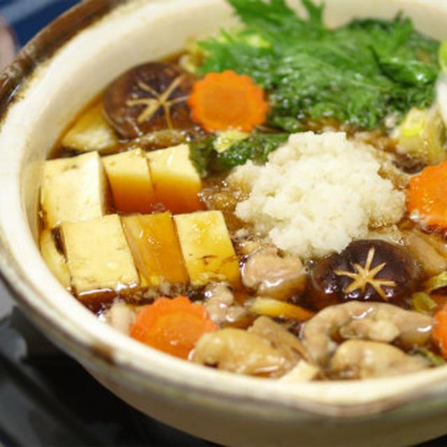 わさびおろしの鶏すき鍋  by 筋肉料理人