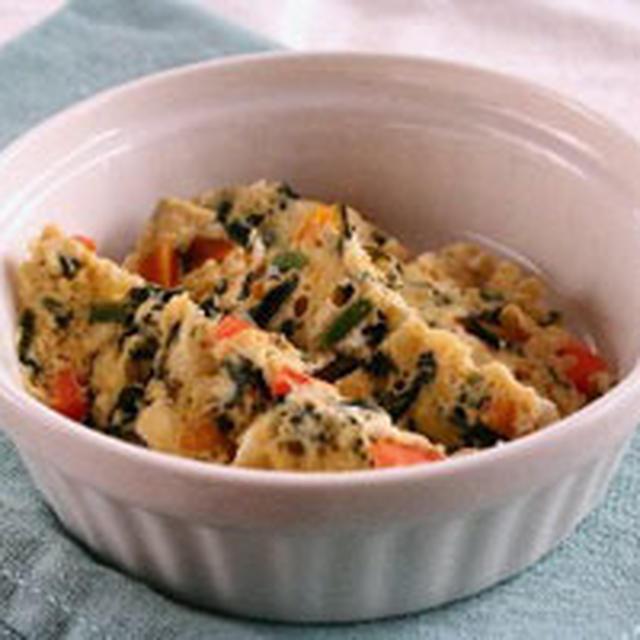 野菜たっぷり豆腐の卵蒸し