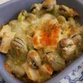 これ!うま!!つゆ味、空豆と筍のチーズ焼き