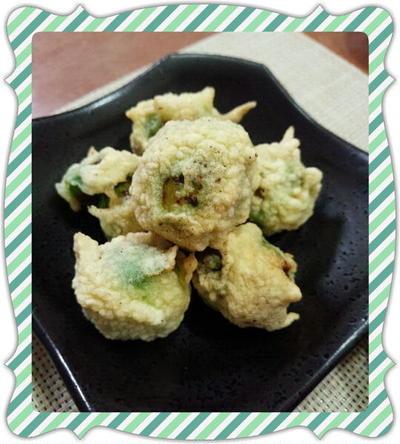 芽キャベツの天ぷら