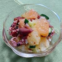 【レシピ】グレープフルーツとホタルイカのマリネ