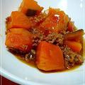 無水鍋deとろり~かぼちゃ&挽肉のあんかけ*そぼろ煮♪