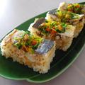 彩り野菜と鯵フィーレのピリ辛!押し寿司