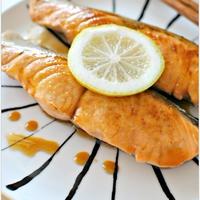 鮭のジンジャーレモン照り焼き