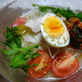 冷麺と柚子塩豚