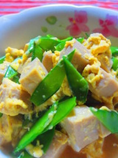 「絹さやと高野豆腐のたまごとじ煮」