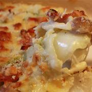 白菜とベーコンのグラタン