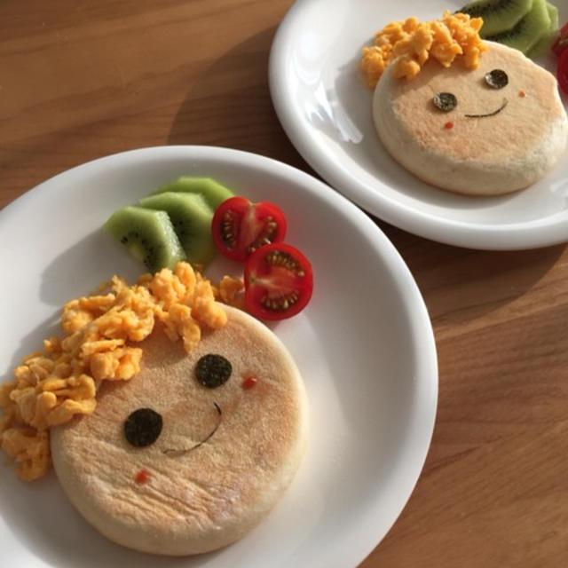スマイルマフィン朝食♪