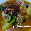 我が家で大人気、炊飯器でカムジャタン風スープ&レンジでチンの冷凍枝豆でエスニック枝豆