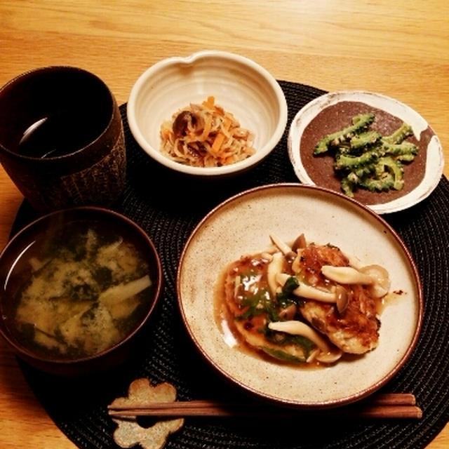 ヘルシー♪豆腐ときのこハンバーグ レシピ