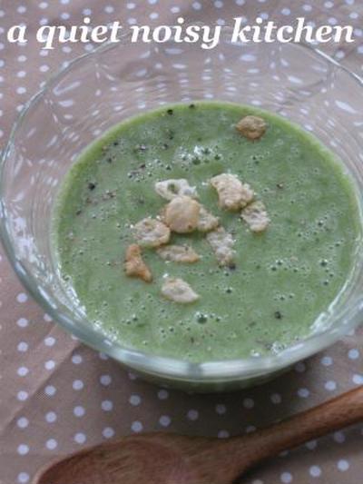 クリーミーな、春色グリーンスープ。