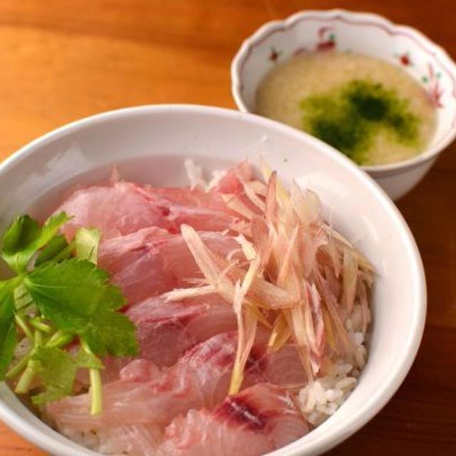 鯛の麦とろ丼(琉球飯)とアラの活用。