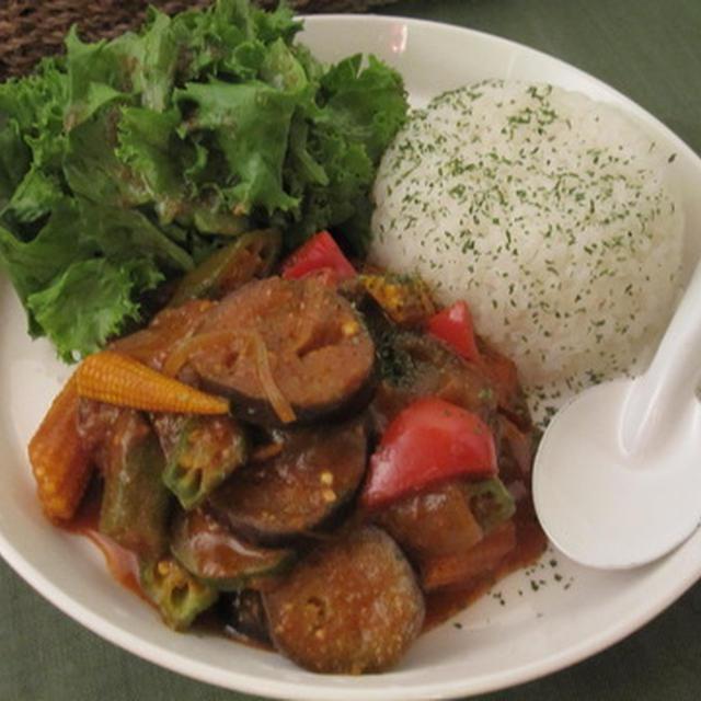 夏野菜の味噌カレー