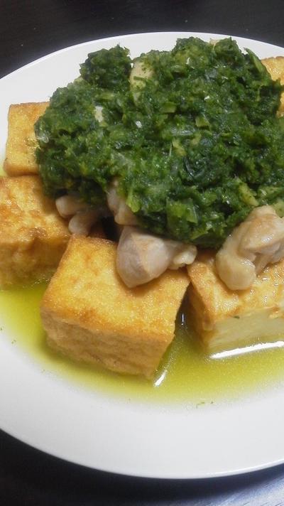 鳥肉と厚揚げのマナソース~暗黒の儀式料理~