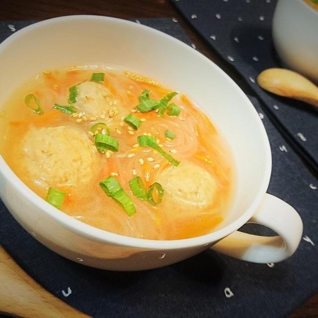 【レシピ】簡単★時短★満足感あり【肉団子と春雨の鶏ガラスープ】