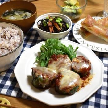小松菜を美味しく食べよう!ナムル風春巻き♪…昨日の晩ごはんと朝ごはん。栄養指導を受けた彼。