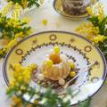♡簡単HMレシピ♡ふわふわポワポワのミモザケーキ♡今日はミモザの日♡