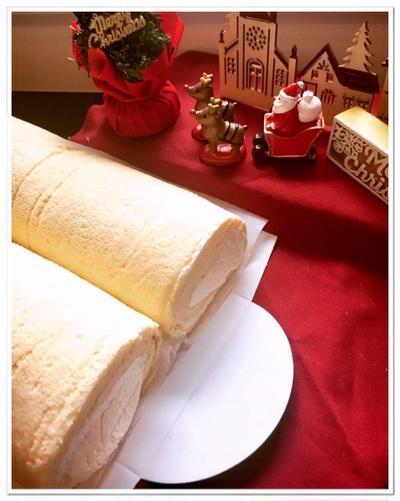 ビストロでノンオイル・シフォン生地ロールケーキ ♬♪