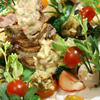 鴨と野菜のミルフィーユ3D仕立て。