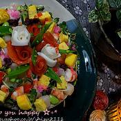 +*春のパーティー用 花ちらし寿司+*