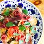 夏野菜と生ハムのパスタ