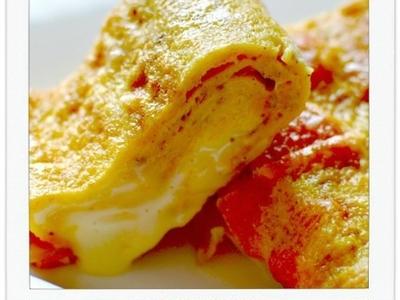 福神漬&チーズ入りカレー卵焼き