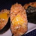 【レシピ】冷凍卵で! 変わりオムライスのおにぎり(^^♪