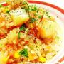 簡単!常備野菜と缶詰で炊飯器ピラフ~トマト味♪