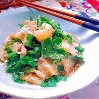 5分で激ウマ☆豚バラ肉と春菊の胡麻ポン酢和え♪
