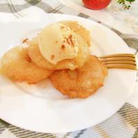 りんごの天ぷら バニラアイス添え