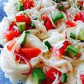 トマトとアボカドの素麺