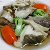 タラときのこのスープ煮