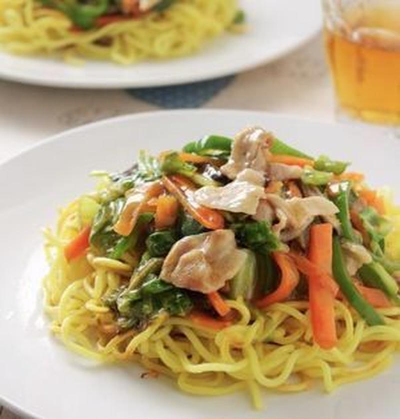 野菜をたっぷり食べたい時に♪具だくさん「あんかけ焼きそば」レシピ