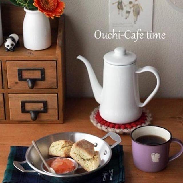 紅茶のスコーンとアップルハニージャム