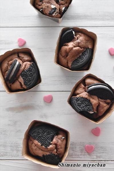 ココアチーズケーキ風♪大人のオレオマフィン