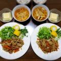 【家ごはん/献立】 豚の生姜焼き と キノコ酸辣湯♪ by こぶたさん