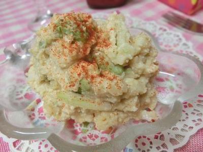 マヨの代わりに豆腐☆ アボカド入り味噌マヨ豆腐ポテサラ