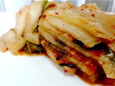 >レシピ・旬の梨が入った、秋の白菜キムチ by ミオクさん