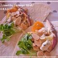 5分でベジフルデザート☆レンジで柿と林檎のトルティーヤ