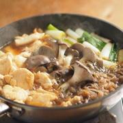 鶏むね肉とヒラタケのフライパンすき焼き