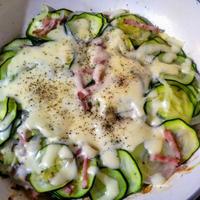 夏野菜レシピ ズッキーニの重ね焼き
