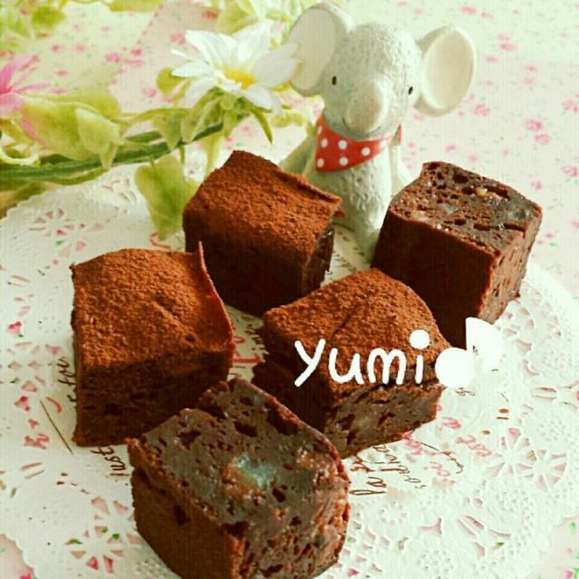 ♡水切りヨーグルトde作る♪レモンピール入り♡ひと口サイズで可愛いチョコレートケーキの作り方♡