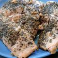 鮭のバターバジル焼き