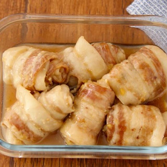 レンジで簡単!「豚バラ巻き煮込み」の作り置きレシピ