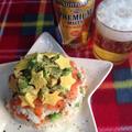 スモークサーモンとアボカドの洋風寿司