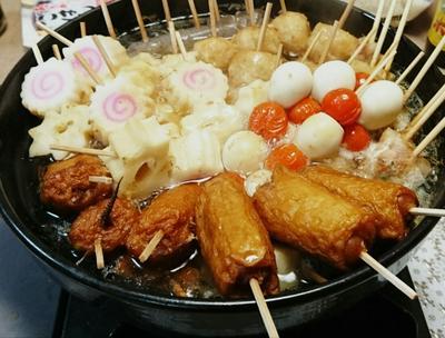 ヒガシマルうどんスープの素で串鍋おでん